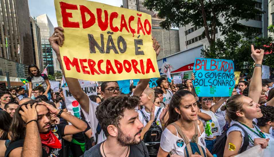 Demonstranten in Brasilien
